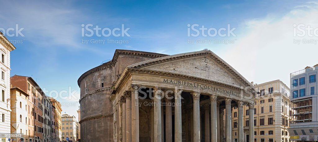 Pantheon and Piazza dell Rotonda, Rome royalty-free stock photo