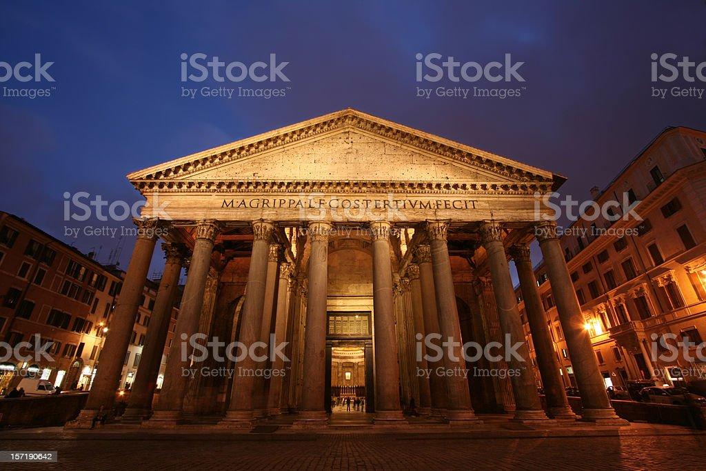 Pantheon by night royalty-free stock photo