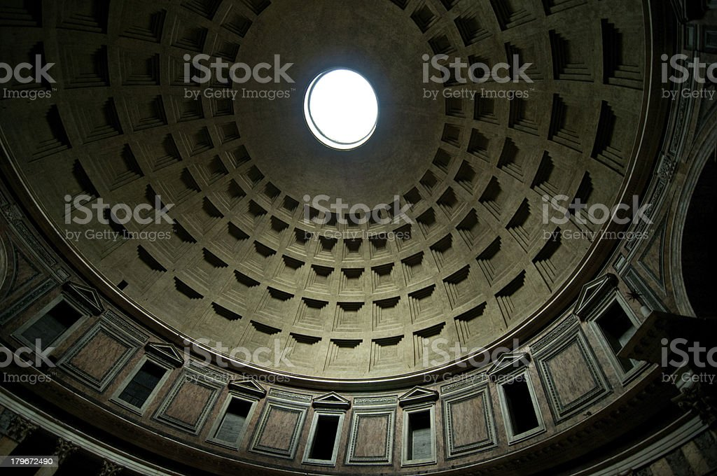 Pantheon Ceiling royalty-free stock photo