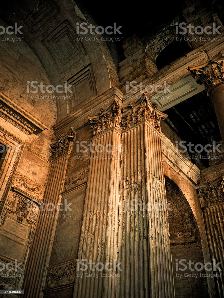 pantheon columns stock photo