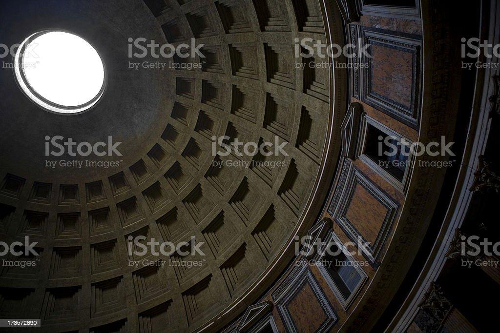 Pantheon dome interior royalty-free stock photo