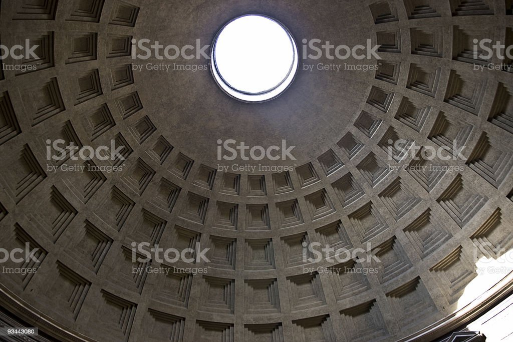Pantheon dome royalty-free stock photo