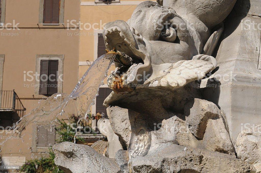Pantheon Fountain royalty-free stock photo