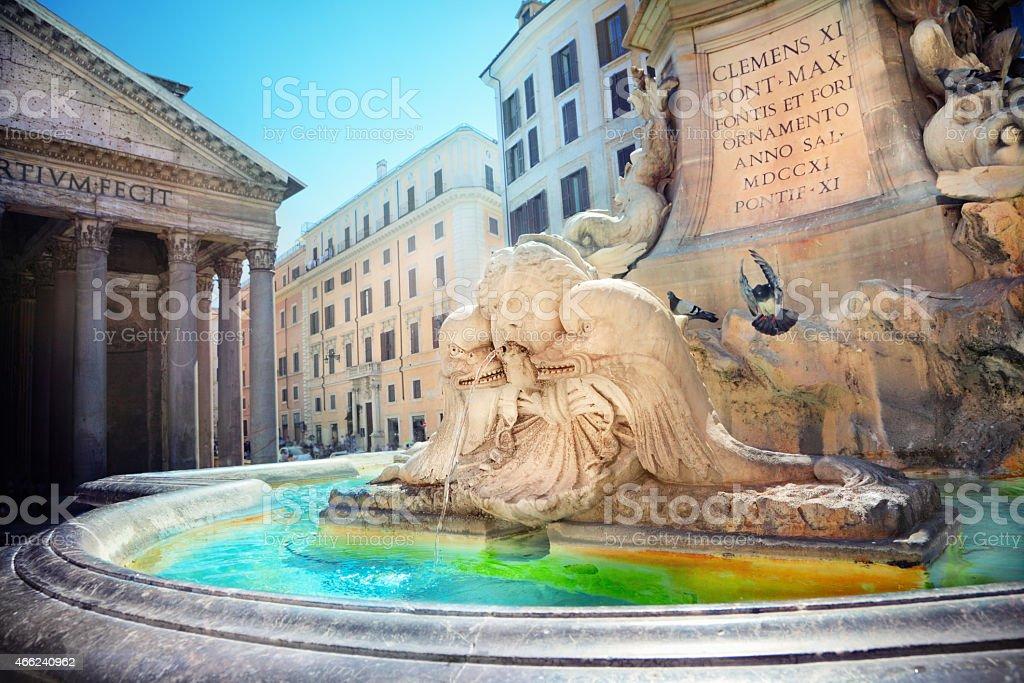 Pantheon Fountain stock photo