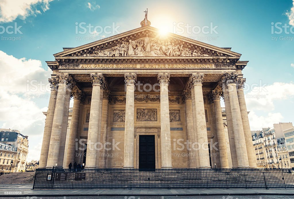 Pantheon In Paris stock photo