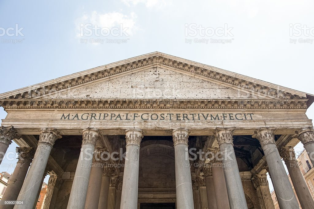 Pantheon in Rome Italy stock photo
