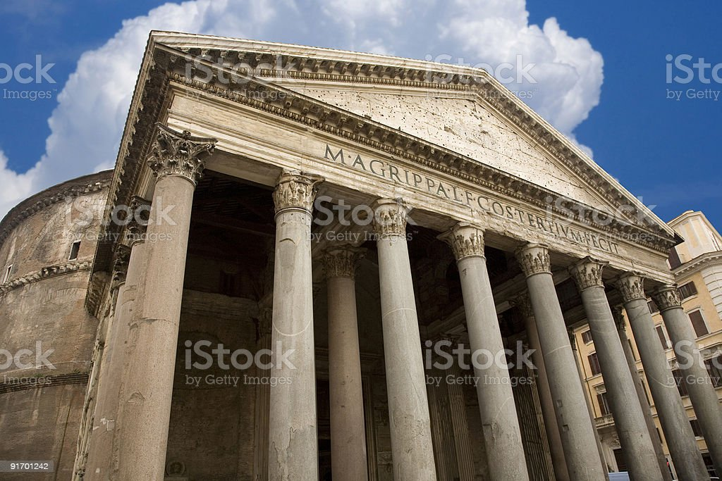 Pantheon in Rome Italy royalty-free stock photo