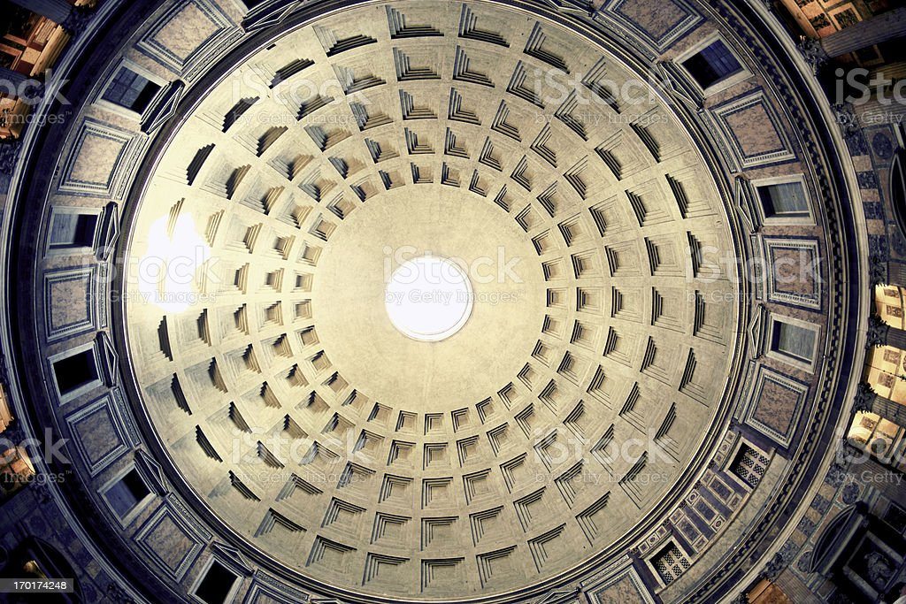 Pantheon in Rome royalty-free stock photo
