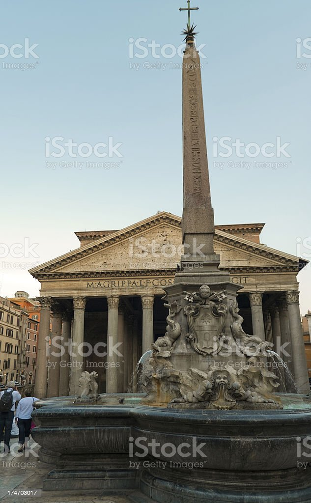 Pantheon in  the evening stock photo