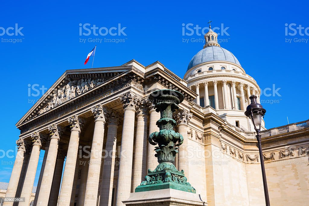 Pantheon in the Quartier Latin district in Paris, France stock photo