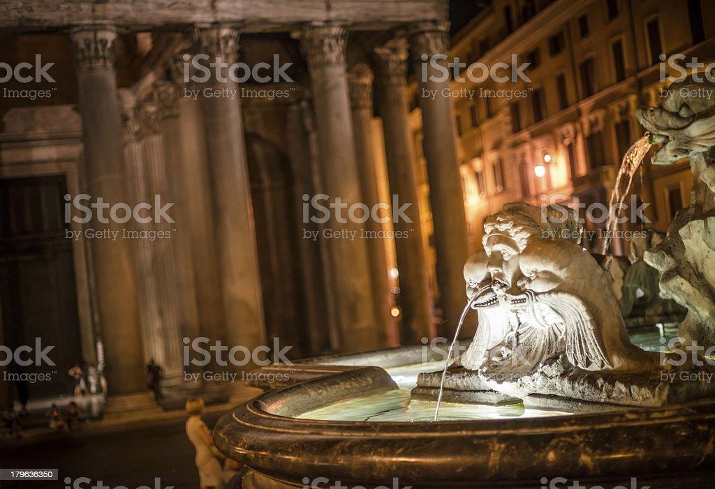 Pantheon Interior in Rome stock photo