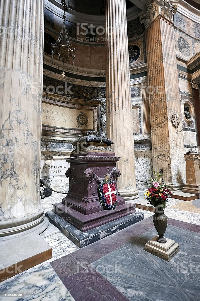 Pantheon-Innenfutter Lizenzfreies stock-foto
