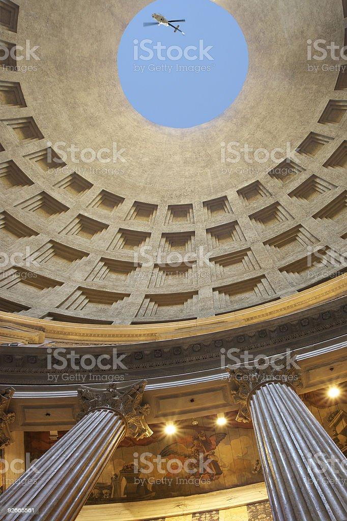 Pantheon interior stock photo