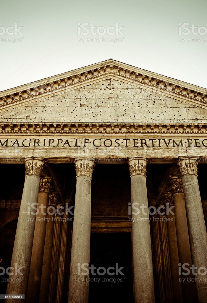 pantheon roman stock photo