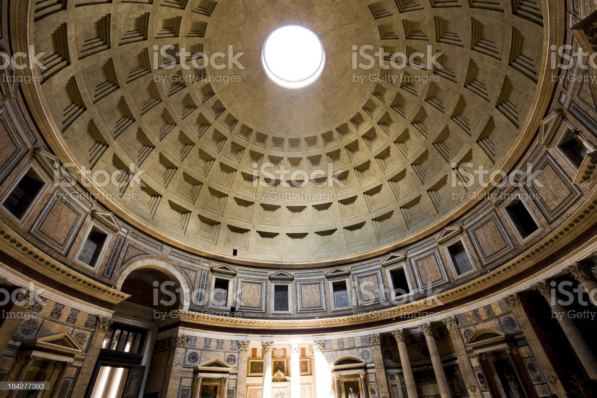 pantheon rome italy royalty-free stock photo
