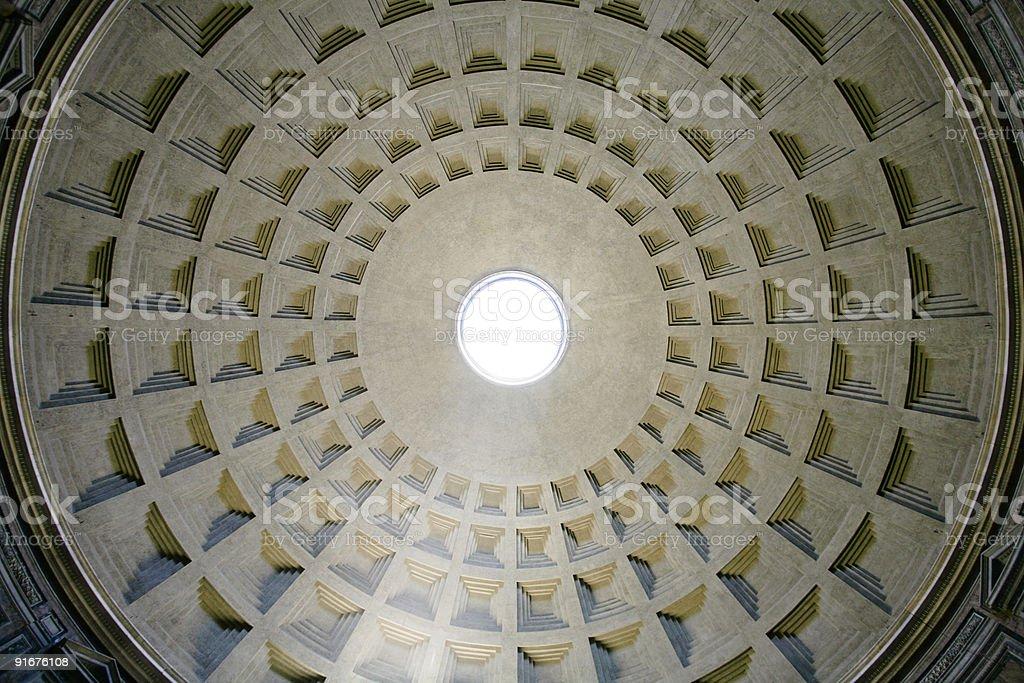 pantheon, rome royalty-free stock photo