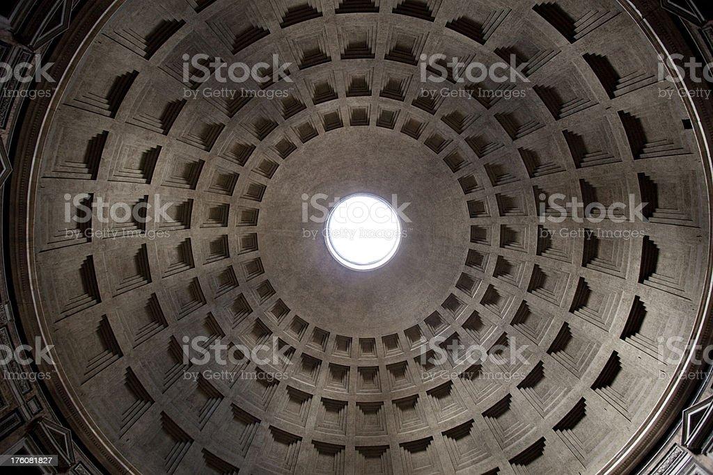 Pantheon roof royalty-free stock photo