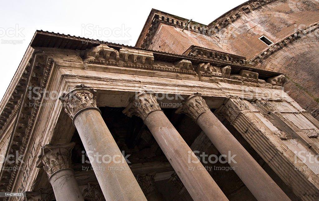 Pantheon Roofline, Rome stock photo