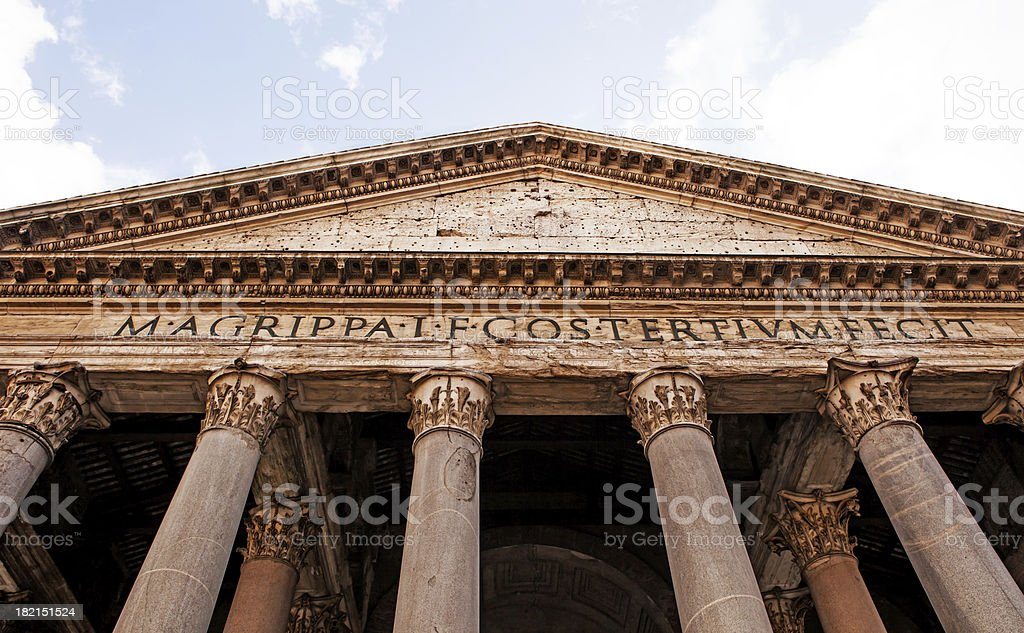 pantheon,rome royalty-free stock photo