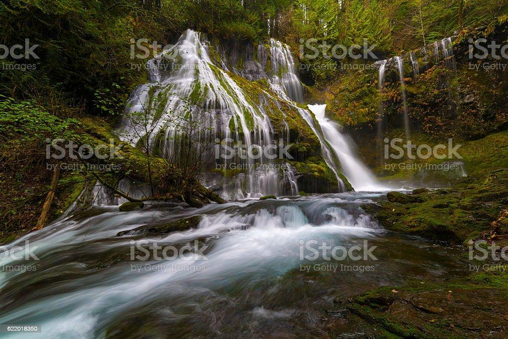 Panther Creek Falls stock photo