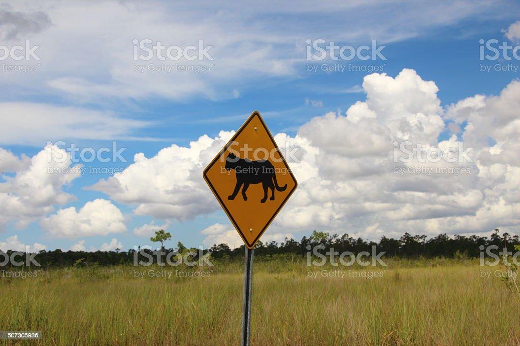 panther sign stock photo