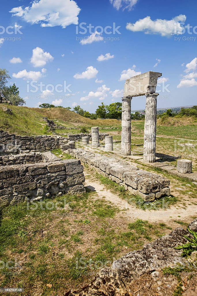 Panticapaeum ancient ruins of Kerch royalty-free stock photo