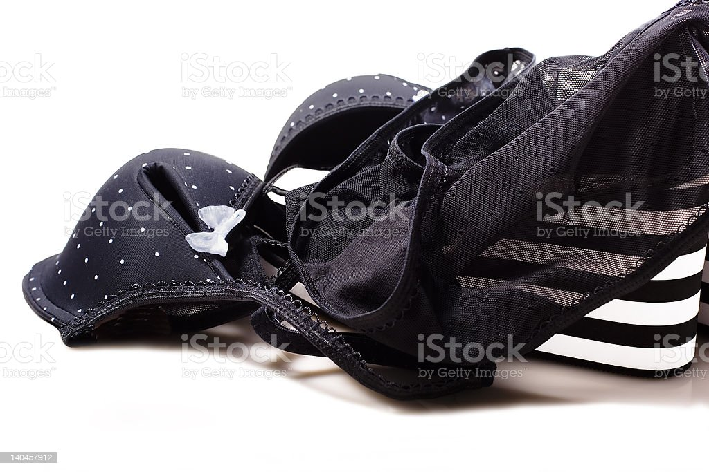 Panties and Shoes royalty-free stock photo