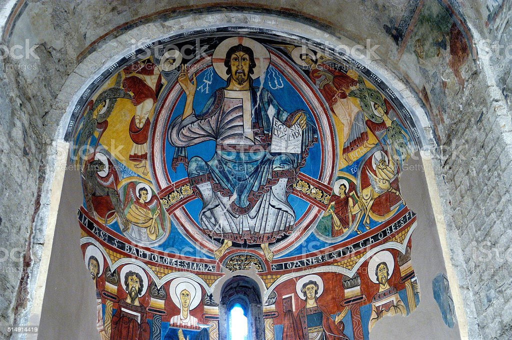 pantocrator, Sant Climent de  Ta?ll, Vall de Boi, Lerida, stock photo