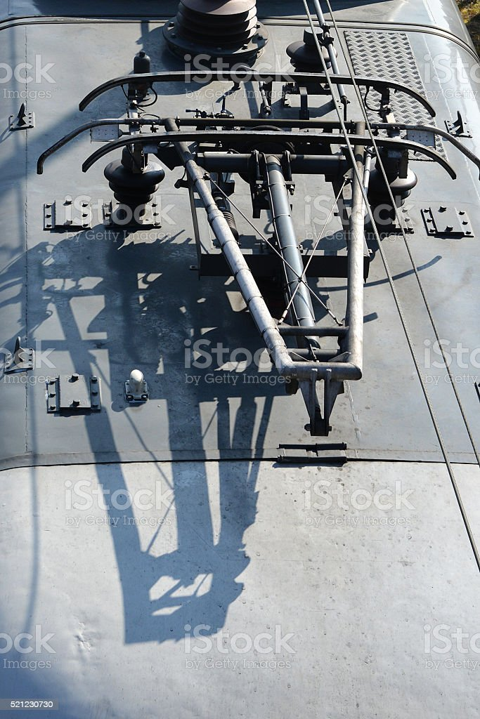 Pantograph Electric Locomotive stock photo