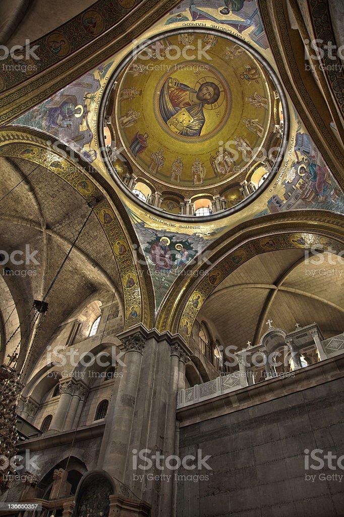 Pantokraktor Mosaic - Holy Sepulchre royalty-free stock photo