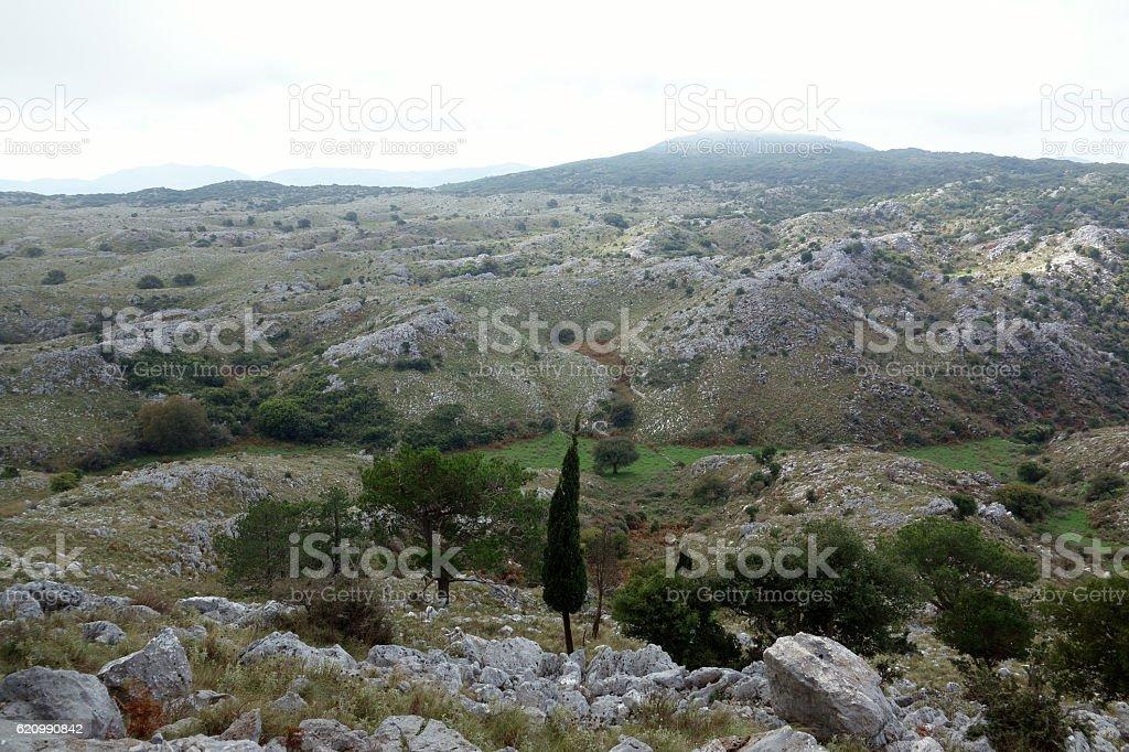Pantokrator, Corfu Trail, Greece stock photo