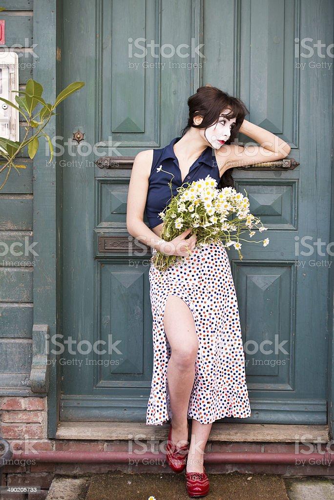 pantomim actrees stock photo