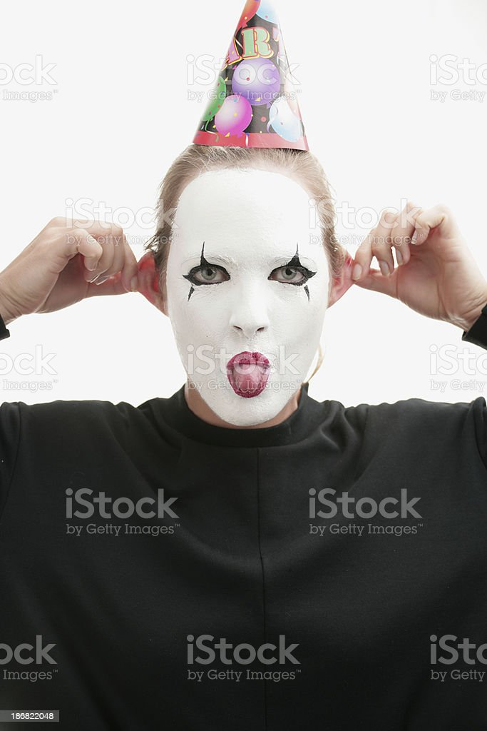 Pantomime party stock photo