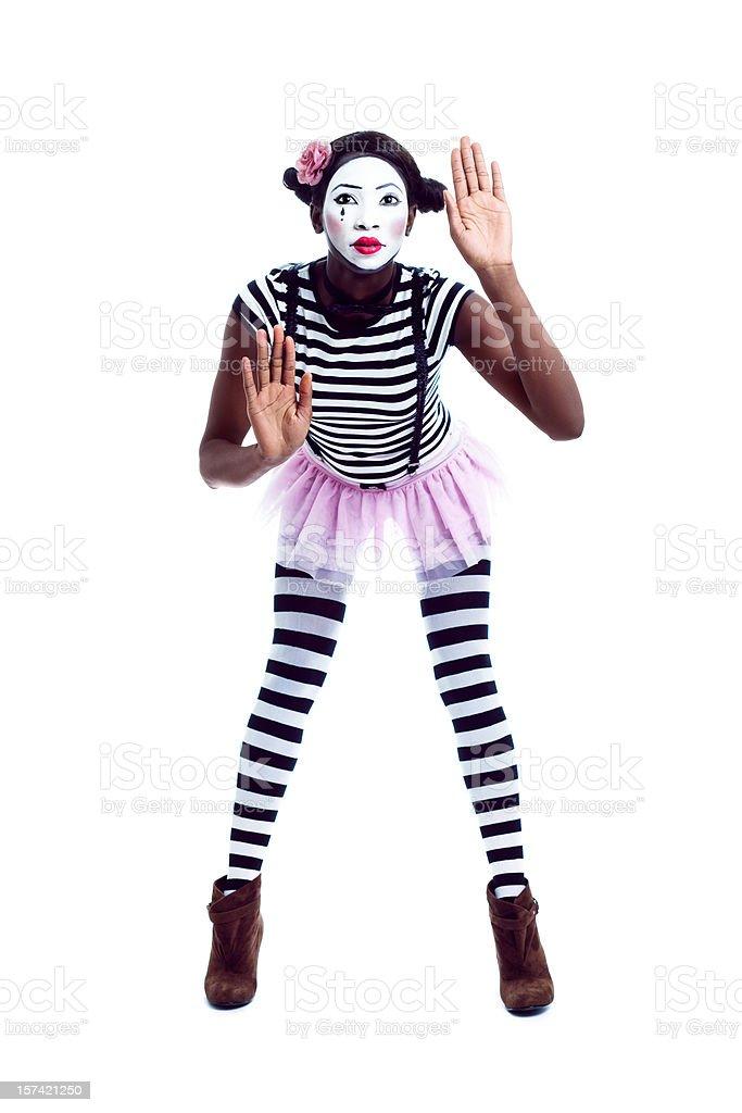 Pantomime stock photo