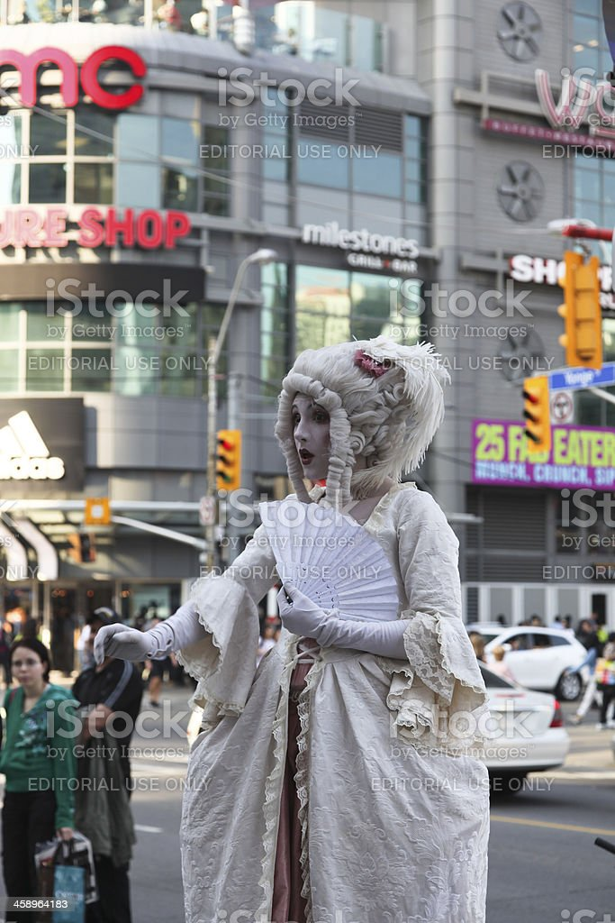 Pantomime Woman royalty-free stock photo