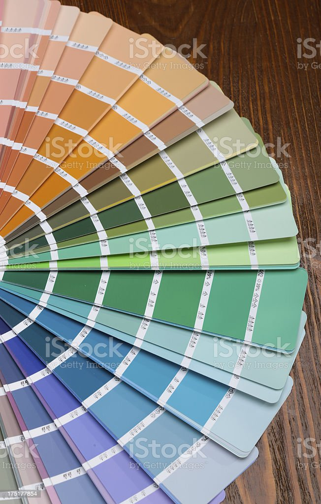 Pantone color palette guide royalty-free stock photo