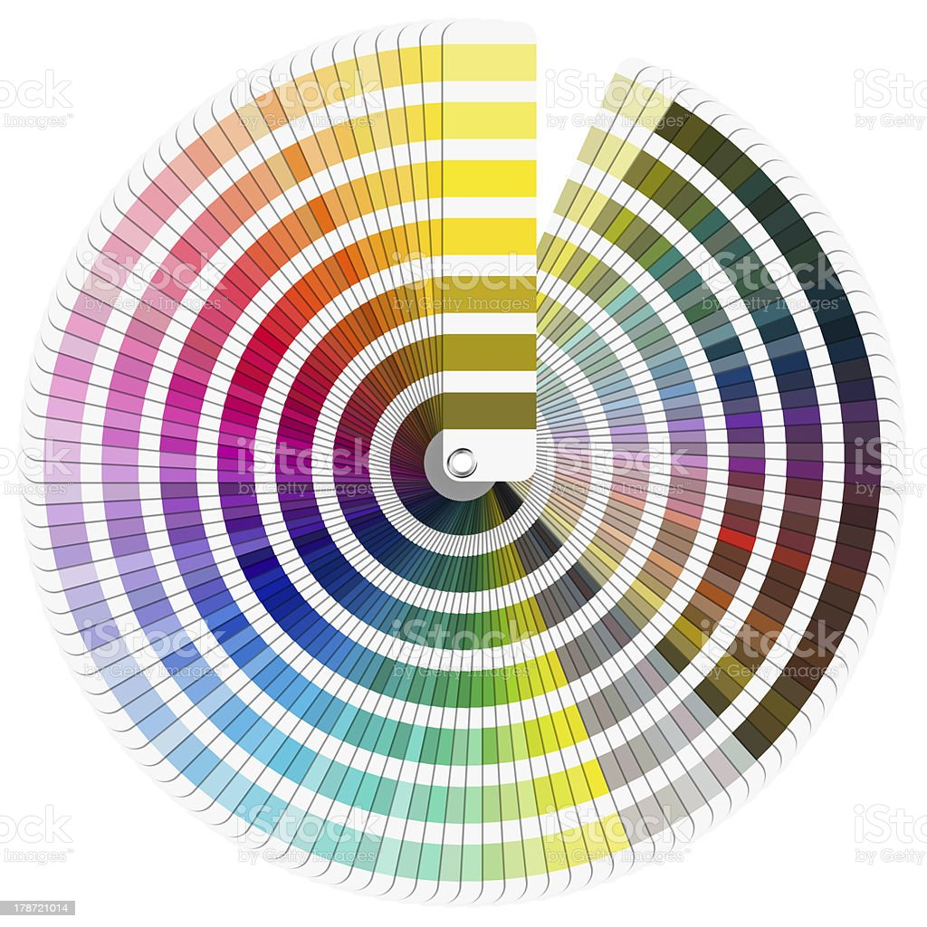 Pantone Color Palette royalty-free stock photo