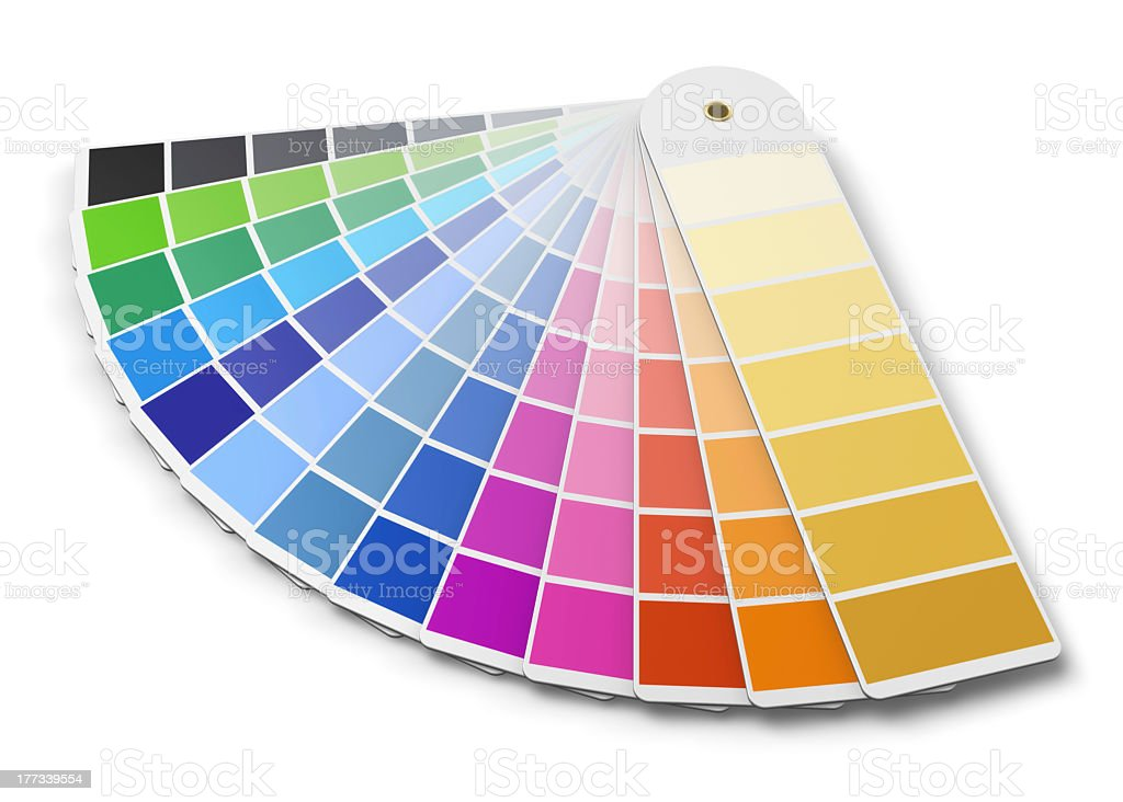 Pantone color palette swatches stock photo