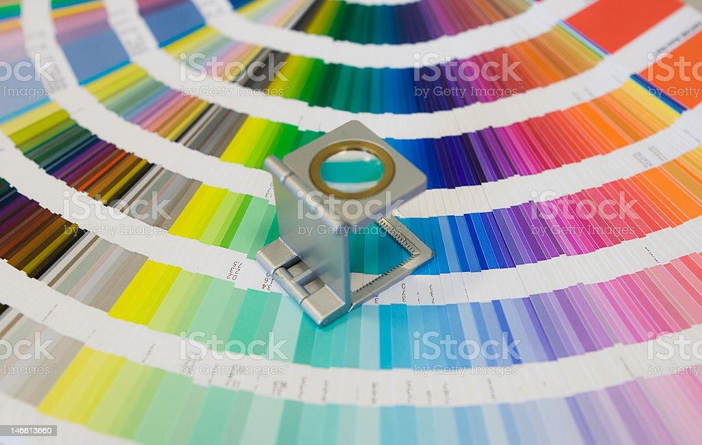 pantone colors stock photo