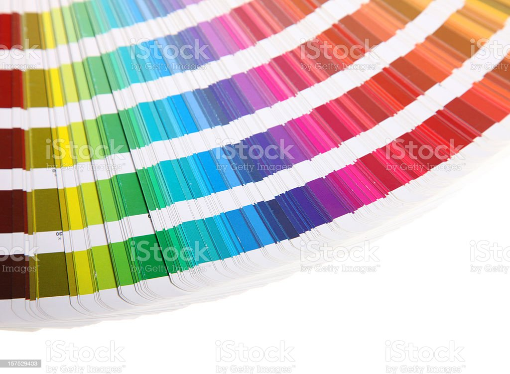 Pantone guide on white background - color card royalty-free stock photo