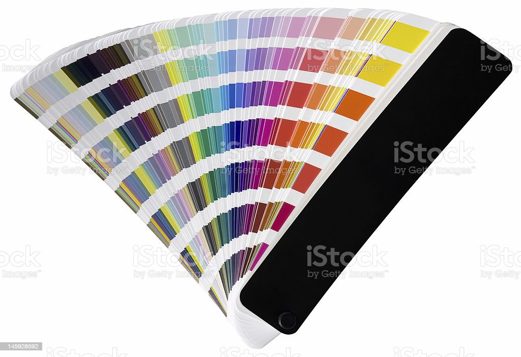 Pantone scale cutout royalty-free stock photo