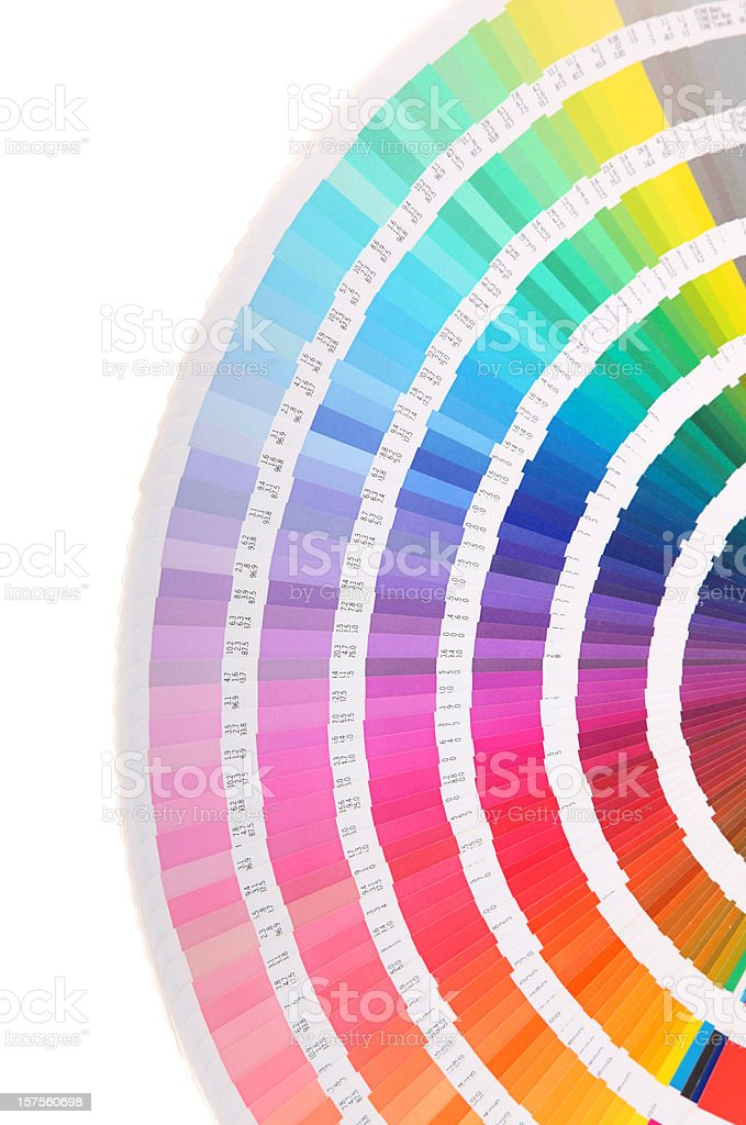 Pantone swatch book - color card stock photo