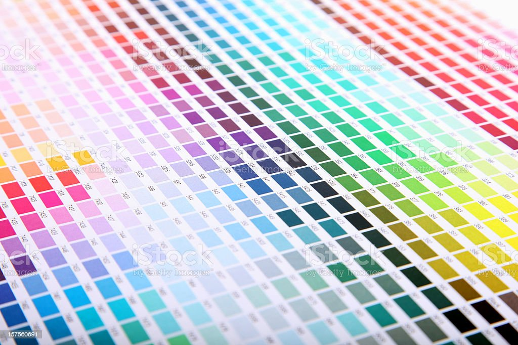 Pantone swatch book royalty-free stock photo