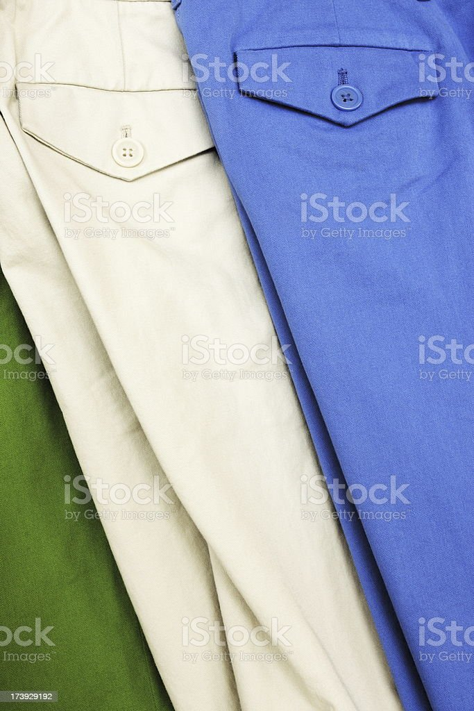 Pants Clothing Fashion Button Pockets royalty-free stock photo