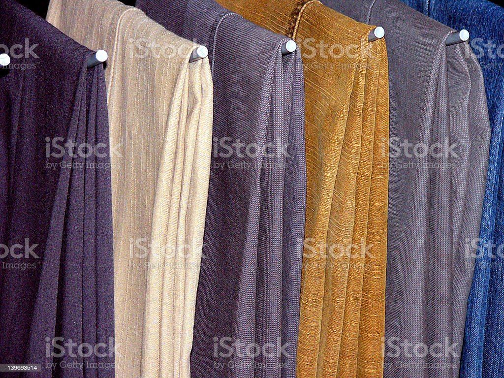 Pants on a rack royalty-free stock photo