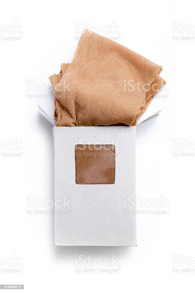 Pantyhose further out of the box stock photo