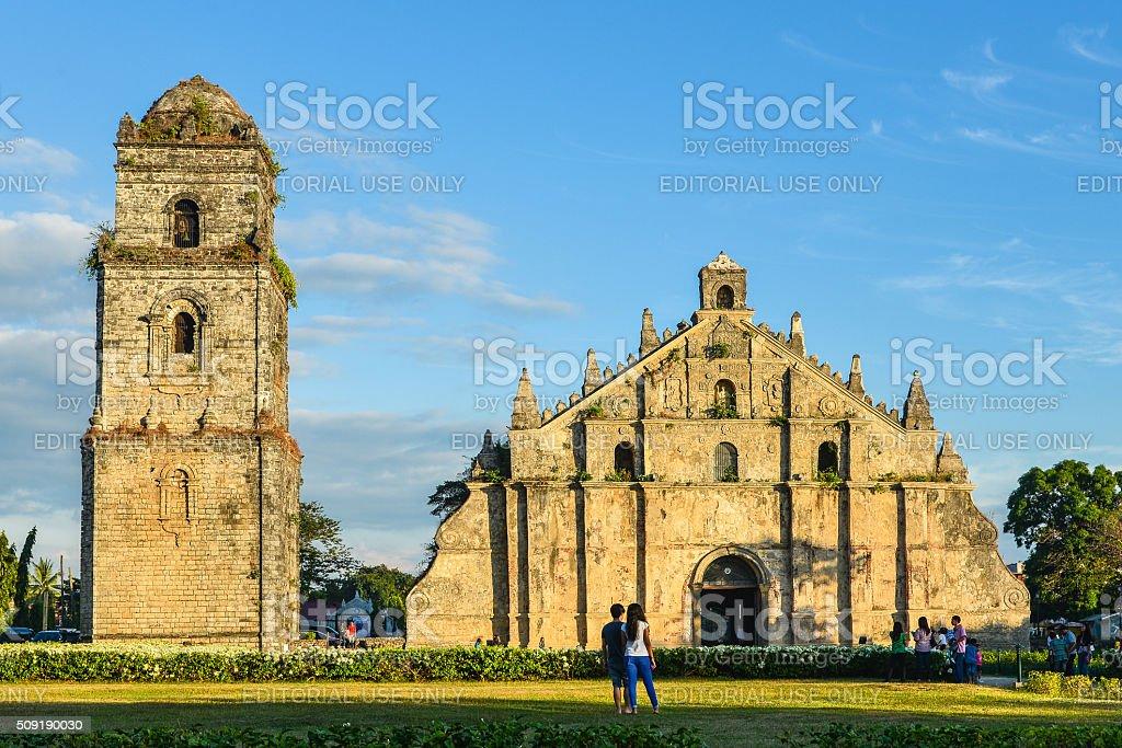 Paoay Church, Ilocos Norte, Philippines stock photo