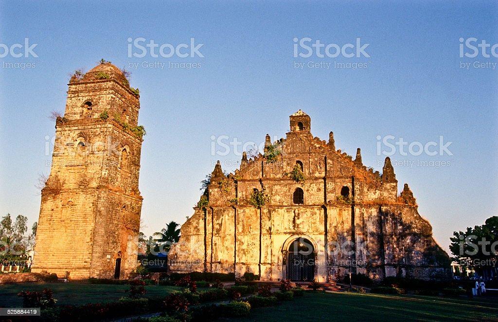 Paoay Church stock photo