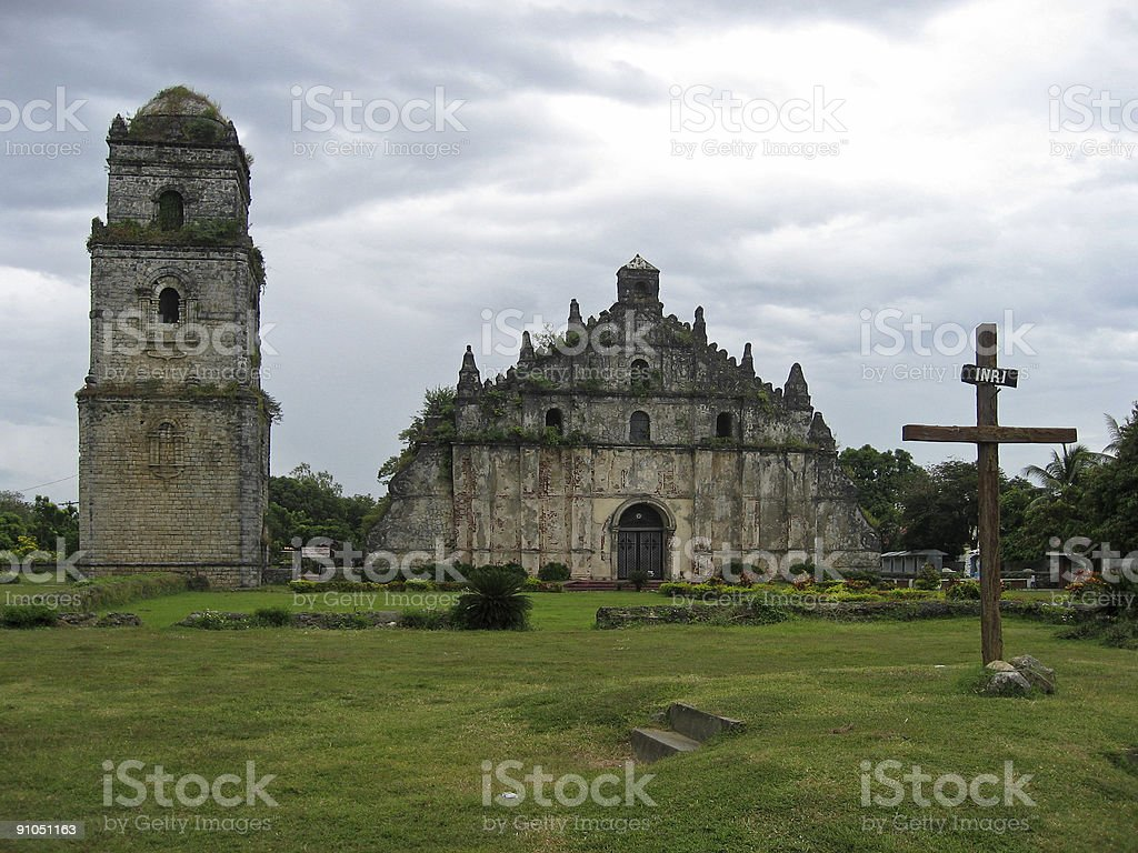 paoay colonial era spanish church philippines royalty-free stock photo