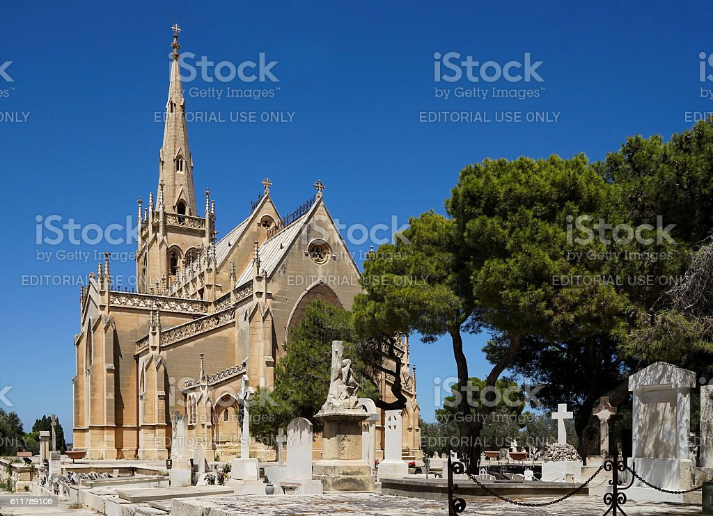 Paola, Malta - August 10,2016: Santa Marija Addolorata Chapel stock photo